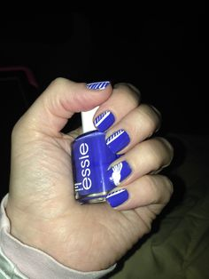 Track and field nail art