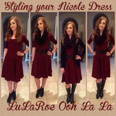 Styling your Nicole Dress! Photo Cred to LuLaRoe Ooh La La  https://www.facebook.com/LuLaRoebyNicoleHampel/