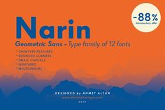 Narin Font Family - İntro offer -88% by ahmetaltuntype on @creativemarket