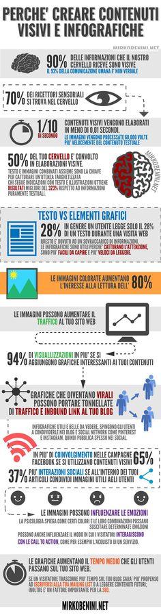 perchè creare contenuti visivi e infografiche - #Infografica #infographic, statistiche e spunti di riflessione. #diellegrafica