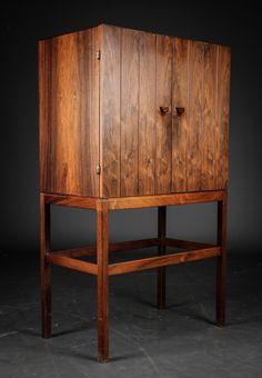 Svend Langkilde; Rosewood Cabinet, c1960.