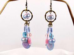 Boucles d'oreille lustre shabby-chic romantiques par MesOdalisques