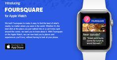 #Foursquare για #AppleWatch. Και ας μην έχει κυκλοφορήσει ακόμη... #socialmedialife #socialnetwork #Apple