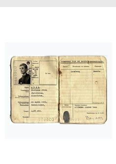 """Bas Jan Ader's boyhood sailing permit resurfaced, issued July of 1959.    Inside it is a note written by his mother, """"Mrs. J.A. Ader Appels gives her son, Bastiaan Johan Christiaan Ader permission to go to sea."""""""