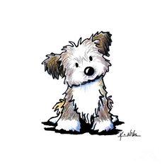 Havanese Puppy by Kim Niles - Havanese Puppy Drawing - Havanese ... #Havanese