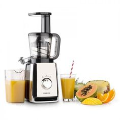 Klarstein Sweetheart Extractor of Juice Saludable Stainless Steel 150 W 32 RPM Strawberry Smoothie, Fruit Smoothies, Smoothie Recipes, Inside The Nba, Chrysanthemum Tea, Corn Maize, Water Spinach, Balanced Diet Plan, Water Chestnut