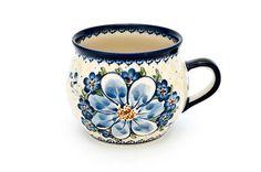 Daisy Surprise Bubble Mug - Blue Rose Polish Pottery