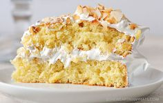 This airy cake is topped with an equally fluffy frosting. Get the recipe from She Wears Many Hats. - Delish.com