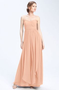 Jenny Yoo Collection Convertible Strapless Chiffon Gown | Nordstrom