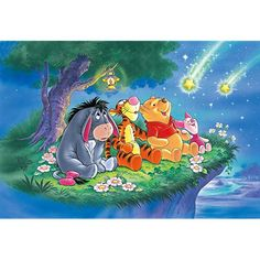 Winnie The Pooh Quotes, Winnie The Pooh Friends, Disney Winnie The Pooh, Disney Theme, Disney Art, Eeyore, Tigger, Number Drawing, School Murals