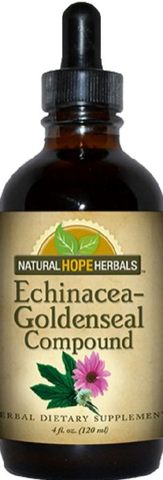 ECHINACEA & GOLDENSEAL COMPOUND Herbal Blend Tincture for Healthy Immune System