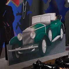 Drive on over to the all night jazz fest  This All That Jazz Car creates wonderful photo ops for your Jazz or roaring twenties event. Each free-standing 1920s Car is made of cardboard and measures 3 ft 10 inches high x 6 ft 8 inches wide and is printed on one side.