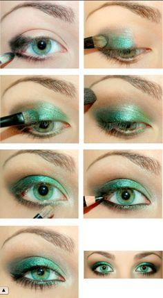 Stunning Green eye shadow!