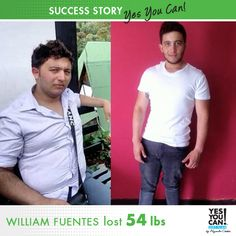 """Alejandro Chaban is my inspiration, he convinced me that there are no limits or unattainable dreams."" http://www.yesyoucandietplan.com/custom/william_fuentes"