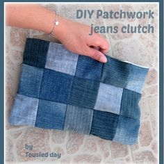 tousled day: DIY Patchwork Jeans Clutch