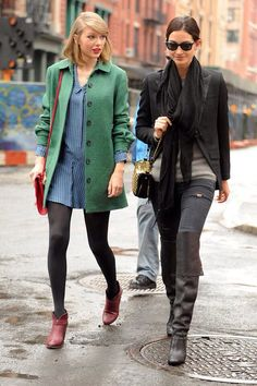 Taylor Swift and Lily Aldridge - is there anyone this singer isn't friends w. Taylor Swift and Taylor Swift Web, Taylor Alison Swift, Clemence Poesy, Paul And Joe, Lily Aldridge, Famous Celebrities, Celebrity Look, Bomber Jacket, Singer