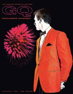 Gq Cover Of An Illustration Of A Man Wearing An by Leon Kuzmanoff