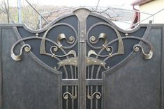 Manufacturer Shutter Doors And Gates India Steel Gate Design, Iron Gate Design, House Gate Design, House Front Design, Door Design, Metal Gates, Wrought Iron Gates, Compound Wall Gate Design, Shutter Doors