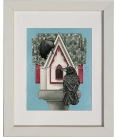 Here's a fun watercolor painting of Gothic Living by TracyLizotteStudios.com This designs available at: http://tracylizottestudios.com/index.php/shop/prints/product/257-gothic-living