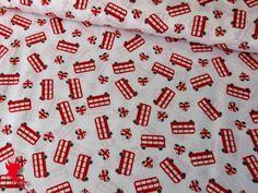 Baumwolle LONDON Motiv 2 weiß von Die Nähfee DIY auf DaWanda.com
