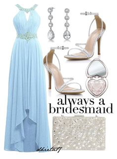 """Bridesmaid"" by dhieta17 on Polyvore featuring Glint, Bling Jewelry, Too Faced Cosmetics, gown and alwaysabridesmaid"