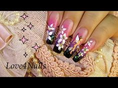 Butterfly Lady Nail Art Design Tutorial - YouTube