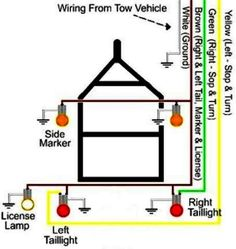 trailer lights wiring adapters at trailer parts superstore rh pinterest com camper tail light wiring diagram RV Trailer Wiring Diagram