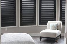 Dark wood shutters white trim | Black Indoor Shutters Window Wood ...