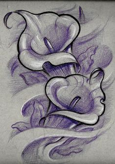 New Flowers Tattoo Desing Sketches Drawings Ideas Lily Tattoo Design, Tattoo Design Drawings, Flower Tattoo Designs, Tattoo Sketches, Drawing Sketches, Art Drawings, Rose Drawings, Drawing Art, Rose Drawing Tattoo
