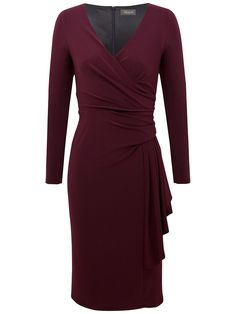 This Alexon long sleeve jersey dress would be nice for the xmas holidays.  Available up to Ireland/UK size 22.  johnlewis.com