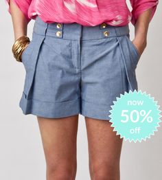 Angie Short-Chambray now 50%off!
