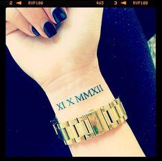 roman numerals tattoo - Cerca con Google