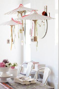 artistique:    those parasol thingies are too pretty  andwhatalicesaw:    (via decor8)