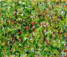 Full Canvas - Verdor ( Green Regrowth) 2020 by Nestor Toro Abstract Painters, Abstract Art, Abstract Nature, Abstract Expressionism, Original Art, Original Paintings, The Other Art Fair, Large Painting, Shades Of Green