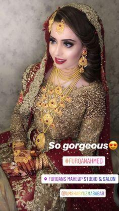 Bridal Suits Punjabi, Pakistani Bridal Makeup, Pakistani Wedding Outfits, Indian Bridal, Big Dresses, Baby Girl Dresses, Bridal Dresses, Indian Inspired Fashion, Indian Fashion