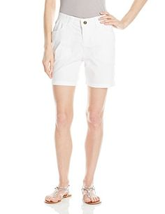 Lee Womens Relaxed Fit Andora Knit Waist Walkshort White 6 -- You can get additional details at the image link.
