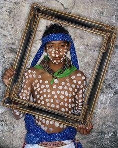 Joven Tarahumara en un retrato