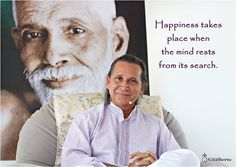 "Happiness takes place when the mind rests from its search. Master Gualberto ""A alegria acontece quando a mente descansa de sua procura."" Mestre Gualberto #ramanashramgualberto #mestregualberto #satsang #ramana #ramanamaharshi #quoteoftheday #guru #pranayama #buda #goodvibes #sadhana #whoami #zen #meditation #awareness #fé #selfinquiry #knowledge #quote #ego #krishna #yogainspiration #nisargadattamaharaj #om #maya #meditação #whoareyou #mind #bliss #spirituality"