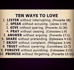 Ten Ways To Love ten ways to love