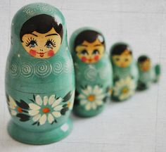 My neighbor used to collect these Matryoshka dolls. They are just too adorable!