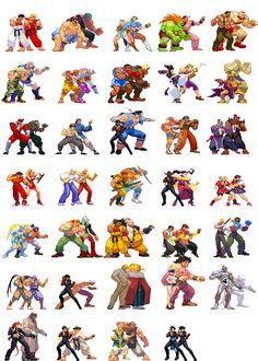 Street Fighter sprites