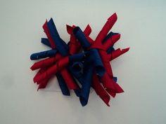 Set of 2 Red/Blue Korker Hair Ties by cheerfuldianna80 on Etsy, $4.00