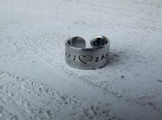 Custom order RESERVED for LEXI couples ring with heart by Amayeli, $10.00