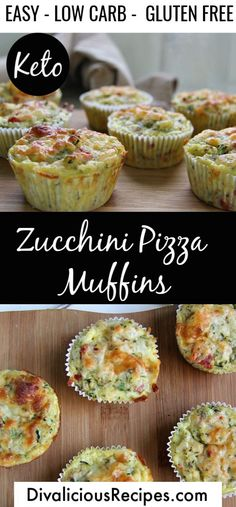 A savoury low carb muffin with all the taste of a pizza makes a great breakfast on the go. Baked with zucchini and coconut flour it's a filling breakfast too! Keto Zucchini Pizza Muffins Wholesome Yum w Almond Joy, Keto Friendly Desserts, Low Carb Desserts, Diet Desserts, Keto Snacks, Low Carb Breakfast, Breakfast Recipes, Breakfast Ideas, Breakfast On The Go