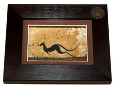 Single Framed Aboriginal Artwork - This series of original artworks is individually hand painted by Aboriginal families in Australia.
