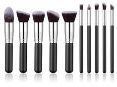 BS-MALL(TM) Premium Synthetic Kabuki Makeup Brush Set Cosmetics Foundation Blending Blush Eyeliner Face Powder Brush Makeup Brush Kit(10pcs, Silver Black), http://www.amazon.com/dp/B00KOW827M/ref=cm_sw_r_pi_awdm_7dI-vb0XCXWXT