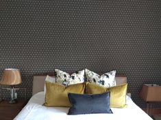 Soft Furnishings, Wallpaper, Bed, Interior, Furniture, Home Decor, Decoration Home, Upholstery Fabrics, Stream Bed