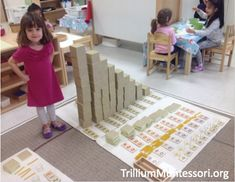 Decimal Layout with the Montessori Golden Beads