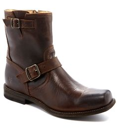Frye Smith Engineer Leather Buckle Boots #Dillards