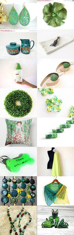 Green Green Green!!!!!! by Neringa Neringaaa on Etsy--Pinned with TreasuryPin.com